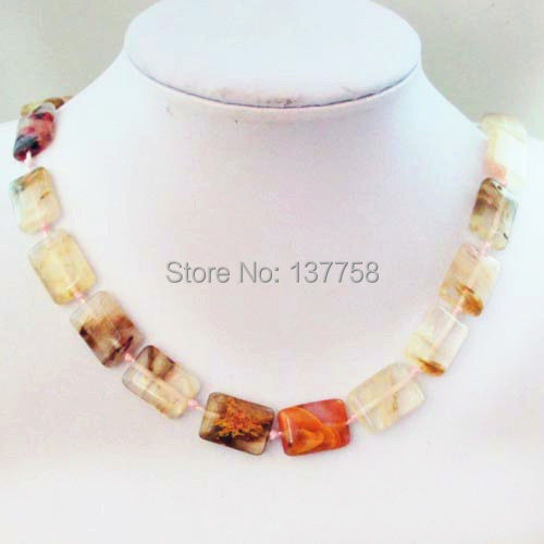 (Min. Order is $10)1Strand Beautiful Cherry Quartz Oblong Necklace 17.5 inch IMG7841