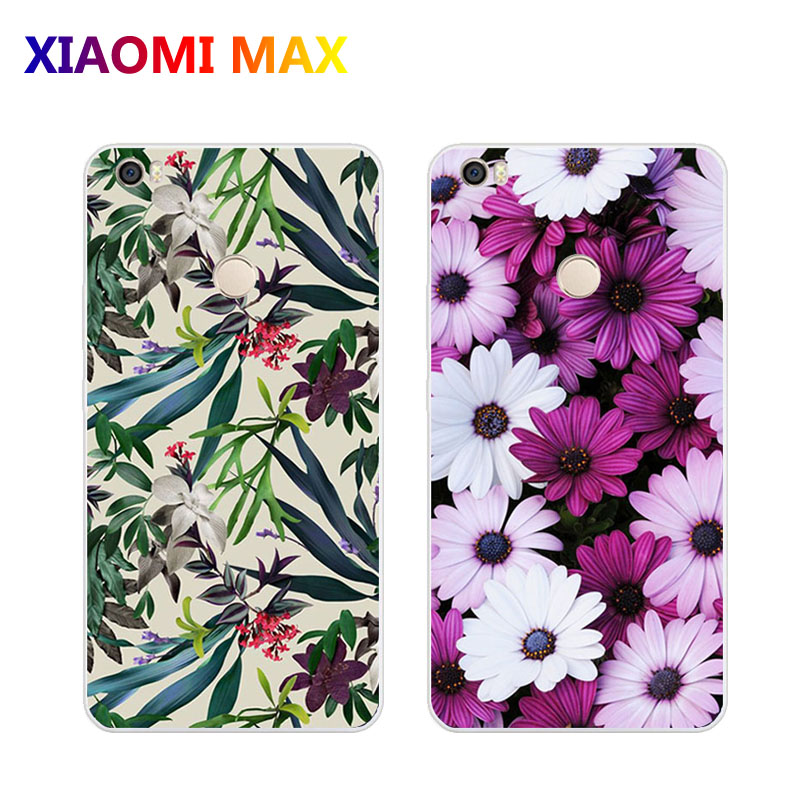 xiaomi mi max Case,Silicon Flowers plant Painting Soft TPU Back Cover for xiaomi mimax Phone protect case shell